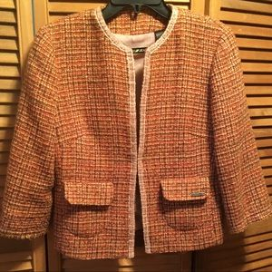 DKNY Multicolored Boucle Jacket